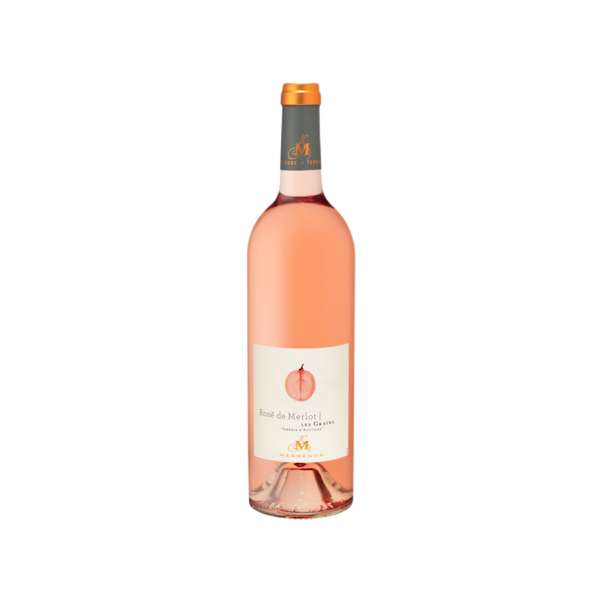 Rose de Merlot Les Grains IGP Mediterranee, Marrenon 25 cl
